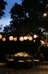 White wedding Lanterns, Kunde Family Estate, Napa California, Tanja Lippert photography, Amy Burke D