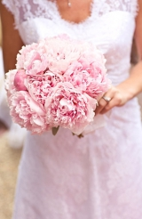 Pink Peonie wedding bouquet