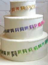 Stamps on cake