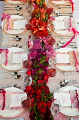 pink wedding inspiration, ombre wedding inspiration, pink wedding flowers, ombre wedding flowers