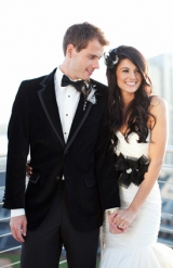 black wedding inspiration, black wedding details, black wedding color, classic groom style, white we