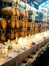 Wine Barrel wedding reception