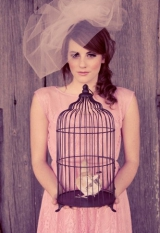 Bird inspired bridal shoot