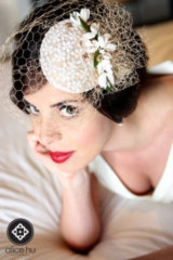 kacee geoffroy hair and makeup, alice hu photography, vintage bride inspiration, bird cage veil, vin