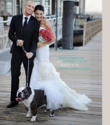 Grace Ormonde Wedding Style magazine spread dog with bride and groom