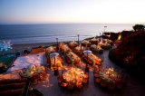 night time reception modern ocean beach, private estate wedding, pacific palisades california, Ira L