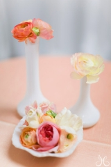 Pink bridal shower ideas, rannunculas, parrot tulips