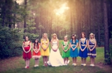 rainbow inspired weddings, red weddings, orange weddings, yellow weddings, green weddings, blue wedd