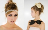 ban.do bando heart headband bride accesory flower