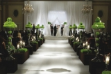 Green flowers wedding ceremony