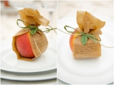 Garden Party inspiration, peach inspiration, place card ideas