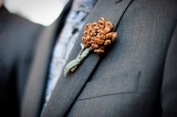 boutonniere, pine cone boutonnieres, winter wedding, winter inspiration, rustic inspiration