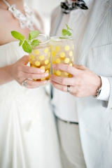 Justin & Mary Marantz, polka dot inspiration, polka dot wedding decor, polka dot wedding utensil