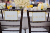 Adamson House, Malibu California wedding, Stephanie Williams photography, yellow wedding centerpiece