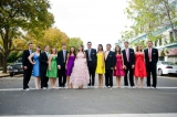 colorful bridal party outfits