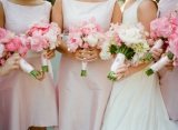Kate Headley photography, bridesmaid monogramed flowers, pink inspiration, wedding monogramed inspir