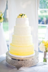 ombre wedding details, colorful wedding details, yellow wedding cake, yellow wedding flowers, rose w
