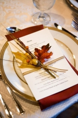Fall reception menu