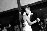 bride groom first dance black and white