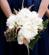 White and Pink bridesmaids bouquet, Wainright House wedding venue, Rye New York, Lyndsey Hamilton Ev