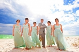 Seafoam green brides maid dresses, Fort Meyers, Florida, Rawsii photography, Sonny Villa