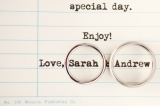 ring shot on lined paper, Ohana Camp, Vermont, Paula Luna Photography, Joyful Weddings & Events