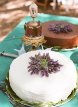 Chocolate and Vanilla cakes with Lavender