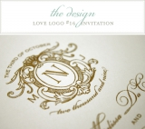 Love Logo wedding invitation