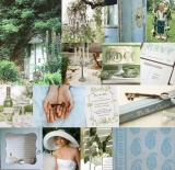 blue and green wedding shower inspiration, wedding shower inspiration, garden themed wedding shower