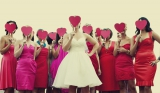 Bridal party with heart masks