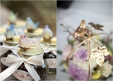 Bird inspired wedding details