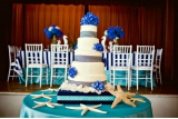 Nautical inspired wedding cake