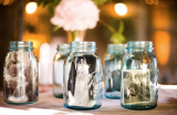 mason jar wedding ideas, vintage photograph wedding ideas