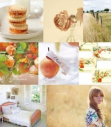 Peach Inspiration Board