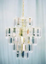 gold silver glass chandelier