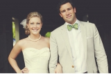 our labor of love photography, green bow tie