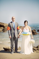 Braedon Photography, fun wedding beach shoot