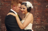 Bridal makeup looks, brides with birdcage veils, bold lip brides