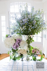 Pink purple and blue Hydrangea wedding flowers, Wainright House wedding venue, Rye New York, Lyndsey