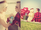 engagement shoot, picnic inspiration, red heart balloons, red inspiration, jones soda, outdoor photo