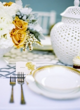 metallic gold silver bronze white wedding inspiration