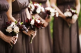 brown and blush wedding colors