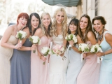 film photography, lane dittoe photography, classic wedding inspiration, pastel bridesmaids inspirati