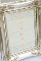 Dan Cutrona Photography, picture frame menu inspiration, blue and orange inspiration
