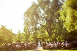 Ceremony under big oak trees, Hausna California wedding, Creative Events Etc., Cameron Ingalls photo