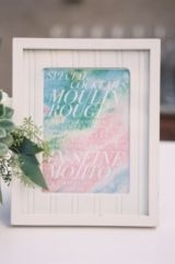 watercolor sipping station sign