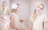 ban.do bando head piece head band flower vintage bride accessories