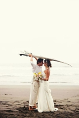 casual beach wedding