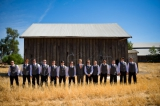 Groomsmen in field