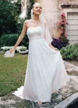 Chiffon Soft Gown with Beaded Lace on Empire Waist